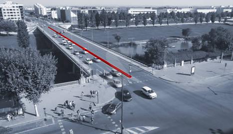 El pont Universitat 'perdrà' la mitjana per incloure carril bici a la calçada cap a Cappont