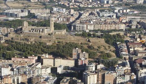 Vista aèria del centre de Lleida