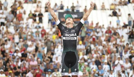 Chris Froome durant la contrarellotge de Marsella, en la qual va sentenciar el Tour de França.