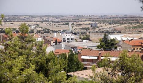 Vista de la zona Nord de Tàrrega des del parc de Sant Eloi.