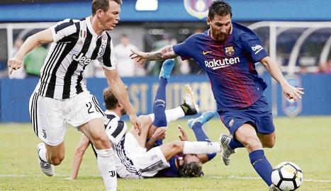 Leo Messi va ser, amb Neymar, el més destacat del primer test.