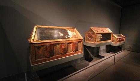 Les tres caixes sepulcrals procedents del monestir de Sixena són algunes de les peces reclamades.