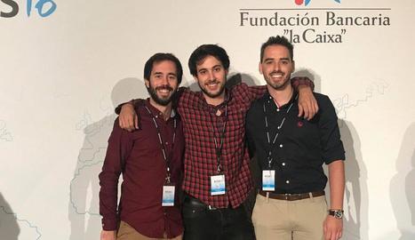 Enric Ros, ahir a l'Institut de Recerca Biomèdica de Barcelona.