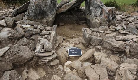 Corredor d'accés a la cambra sepulcral desenterrat el 2016.