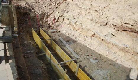 Ja s'ha començat a excavar el talús del turó de la Seu Vella com a part de les obres.
