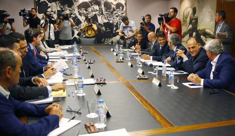 La reunió d'ahir del Consell Superior d'Esports.