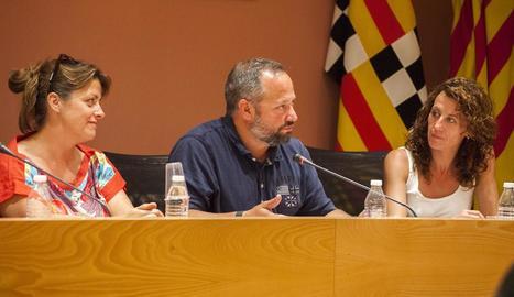 Silveri Caro, portaveu del PSC, en el ple de Tàrrega d'ahir.