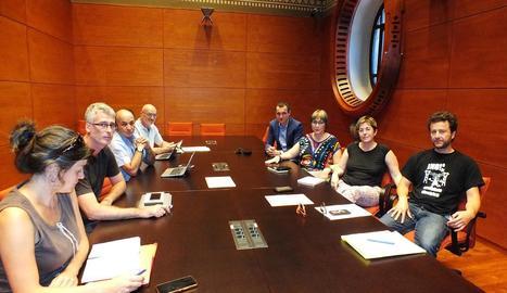 Un moment de la trobada amb els parlamentaris.