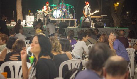 Un moment de l'actuació de Panellet, dijous a la nit a Can Colapi.