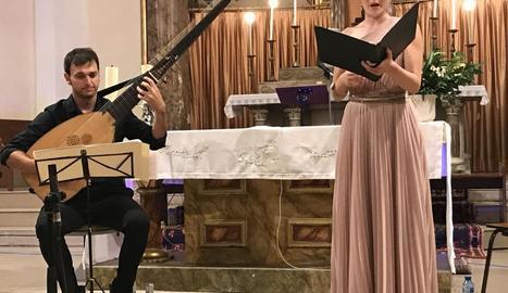 Duet de cant i tiorba a Juneda