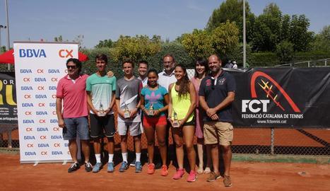 Max Alcalà i Marta Torres conquereixen el Català sub-15 del CT Urgell