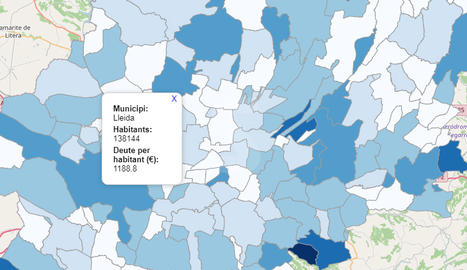 MAPA. El deute dels ajuntaments de Lleida