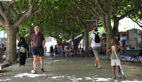 El passeig Joan Brudieu és un lloc cèntric i molt freqüentat.