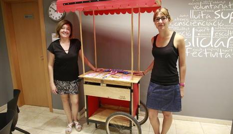 La nova campanya té un estand fabricat pels alumnes de fusteria de l'institut Templers.