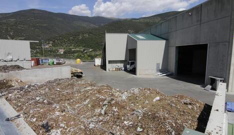 Les instal·lacions de compostatge d'escombraries orgàniques del Pallars Sobirà a Sort.