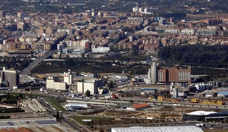 Imatge aèria del polígon El Segre, a Lleida
