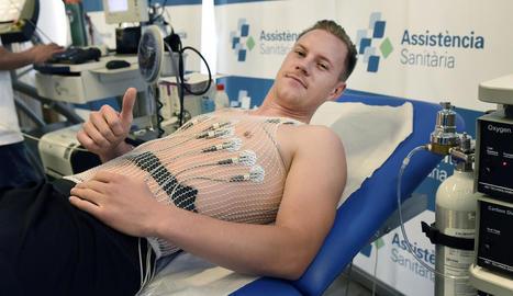 El porter Ter Stegen va passar ahir la revisió mèdica un cop finalitzades les vacances.
