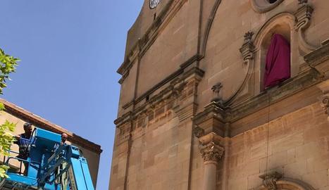 L'església del Soleràs 'estrena' escultura