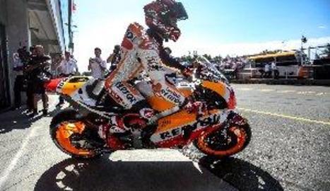 Marc Màrquez torna en forma de l'aturada i aconsegueix la pole en MotoGP