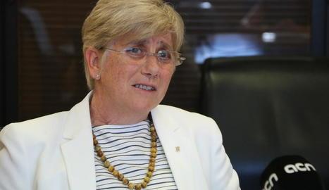 La consellera d'Ensenyament, Clara Ponsatí.