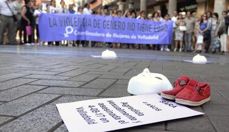 Imatge de la concentració per la nena morta a Valladolid.