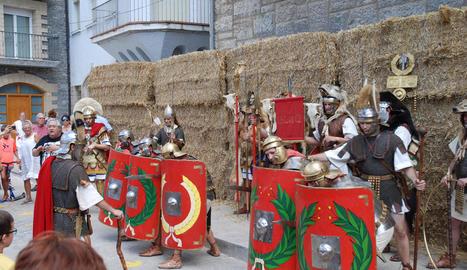 L'acte central va consistir en una recreació històrica d'una legió romana.