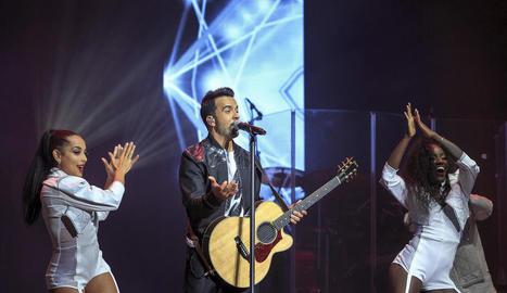Fonsi, en el concert del Festival de Cap Roig.