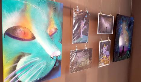 Alguns dels quadres que poden veure's en aquesta mostra.