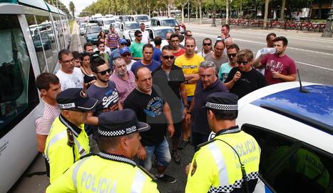 Els manifestants han arribat a Barcelona