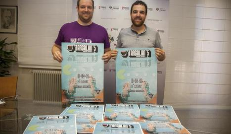 El portaveu de Targalan, Jordi Ricart, i el regidor de Cultura, Raül Palacios, ahir a la presentació.