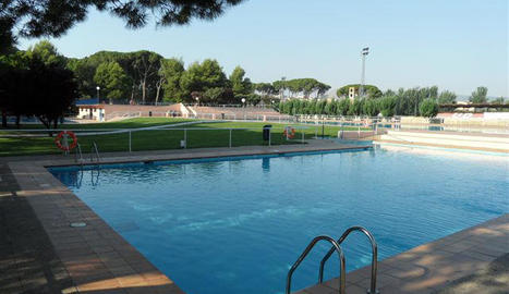 La piscina on s'han portat a terme les reparacions.