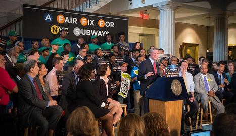 L'alcalde de Nova York, Bill de Blasio, a l'anunciar la proposta.