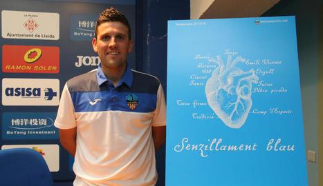 Gerard Albadalejo espera que l'afició estigui avui amb l'equip en un partit molt emotiu.