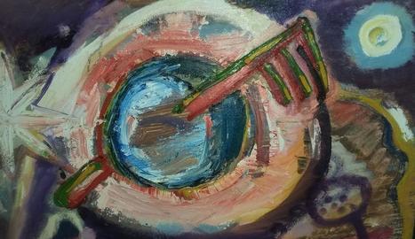 'La clau del món', una de les pintures que s'exposaran.