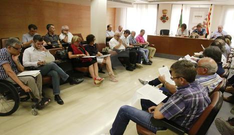 El consell d'alcaldes del Segrià.