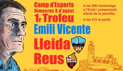 El Camp d'Esports acull aquest vespre l'homenatge a Emili Vicente