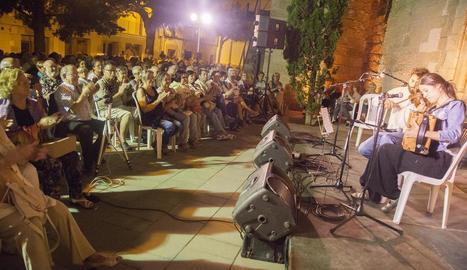 Un moment de la celebració de la 17 Nit de l'Acordió de Vilagrassa, dimarts a la nit.
