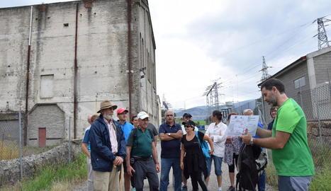 La ruta guiada es va acabar a la central elèctrica d'Adrall, on traslladaven el carbó per produir llum.