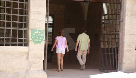 L'entrada del parador de Lleida, a l'antic convent del Roser.