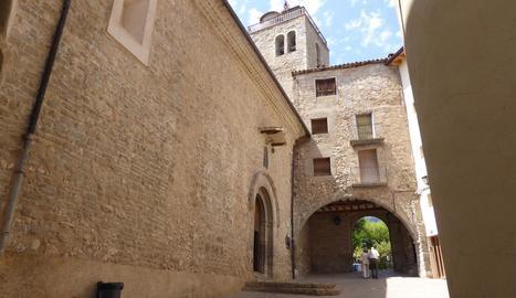 Vista del centre històric de Sant Llorenç de Morunys.