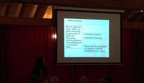 Un moment de la conferència de Carme Maria Marugan.