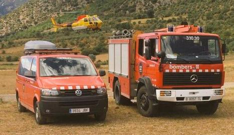 Efectius de Bombers i SEM que van actuar ahir en els rescats.