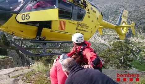 Rescat d'una excursionista al Parc Nacional d'Aigüestortes.