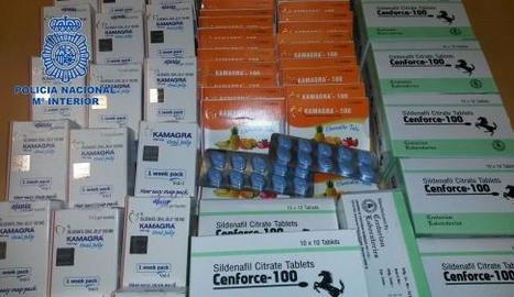 Vista dels medicaments intervinguts en l'operació de la Policia Nacional a Madrid.