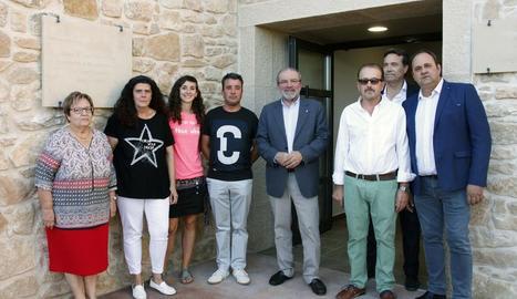 Reñé va presidir la inauguració de la sala de vetllatoris de Tarrés.
