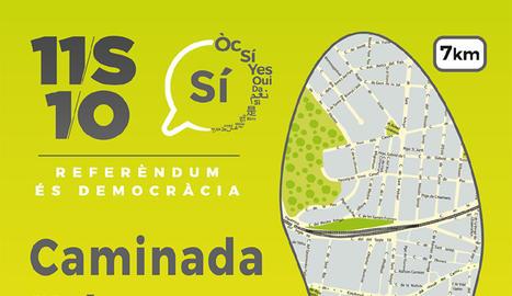 Organitzen una caminada urbana a Tàrrega a favor de la independència