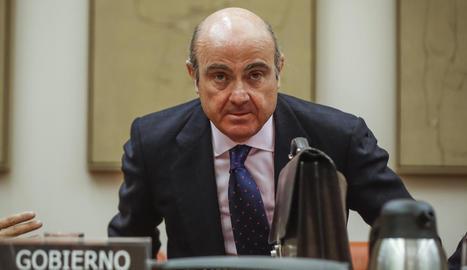 Imatge d'arxiu del ministre d'Economia, Luis de Guindos.
