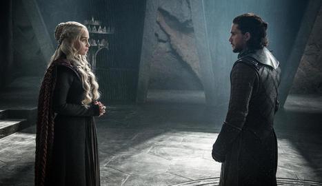 Daenerys Targaryen i Jon Snow, dos dels protagonistes de la sèrie.