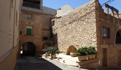Vista de centre històric de Juncosa.