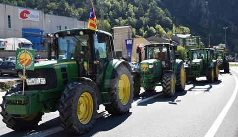Una protesta anterior dels agricultors de la fruita.